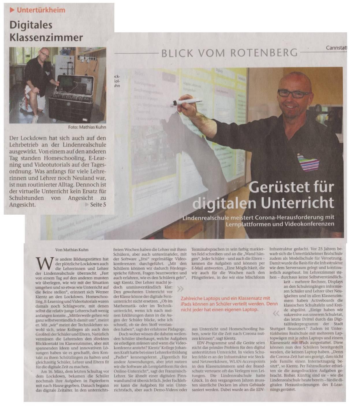 Digitalisierung Zeitungsartikel